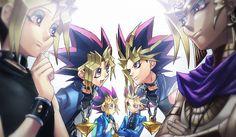 Tags: Anime, Yu-Gi-Oh!, Millennium Puzzle, Chain, Yami Yugi, Pharaoh Atem, Crossed Arms