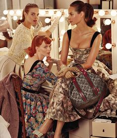 vintage-inspired louis vuitton ad. obsessed with this ads.