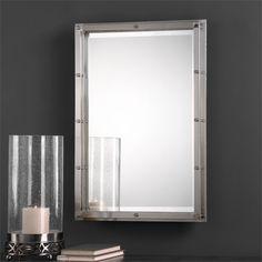 $139 - 23 W X 32 H X 2 D (in) - Uttermost Manning Brushed Nickel Mirror