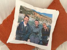Personalised photo cushion. Great gift idea and looks fab!!!  www.personalisewise.com