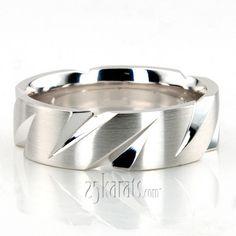 Extravagant #Diagonal Cut Basic Wedding Band #Wedding #Band #weddingband #ring #25karats