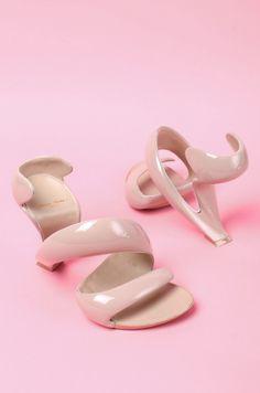 Julian Hakes Mojito Shoe in Nude & Nude. Amazing!