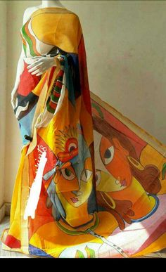 Kerala cotton sarees with hand painting