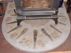 Wood stove hearth- pretty design, smooth finish