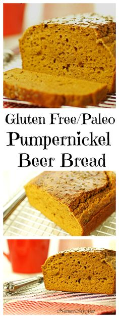 Gluten Free/Paleo friendly Pumpernickel Beer Bread. This bread is made with almond and tapioca flour and yes, it uses gluten free beer! The taste is amazing!