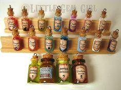 1 CUSTOM You Design - Magic Glass Bottle Cork Necklace - Potion Vial Charm - Liquid Shimmer or Glitter - Magic Spells via Etsy