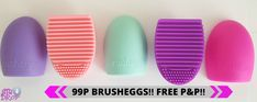 MAKEUP BRUSH CLEANER Egg Glove Scrubber Cosmetic Cleaning Silicone Foundation - STARTING AT JUST 99p!