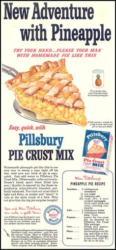 PILLSBURY PIE CRUST MIX WOMAN'S DAY 05/01/1950 p. 31