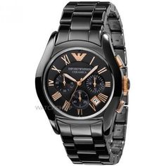 Mens Emporio Armani Ceramic Chronograph Watch AR1410 -374
