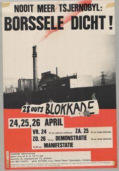 Nr 9: Recht van demonstratie. De ramp met de kernreactor in het Russisiche Tsjernobyl in 1986, is in 1987 aanleiding voor de 28-uursblokkade (24-26 april) 'Nooit meer Tsjernobyl – Borssele dicht!' #IAD15 #democracy Uit: Archief Links Kollektief Walcheren. Meer informatie over deze actie: http://www.laka.org/protest/jaar/1987.html Vindplaats in Zeeuws Archief: http://www.archieven.nl/nl/search-modonly?mivast=239&mizig=210&miadt=239&micode=212&miview=inv2