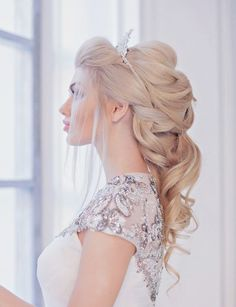 wedding hairstyle idea; via Websalon Weddings