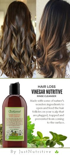 This Vinegar Nutritive Rinse Cleanser gently cleanses your scalp and hair. It will leave your hair beautiful while removing all residues, dirt, debris and other buildup that might be clogging or choking off your hair follicles.