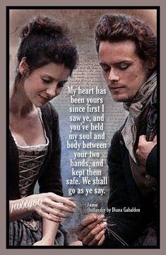 Claire Fraser, Jamie Fraser, Outlander Quotes, Outlander Book Series, Diana Gabaldon, Two Hands, Fan Art, Actors, Sam Heughan