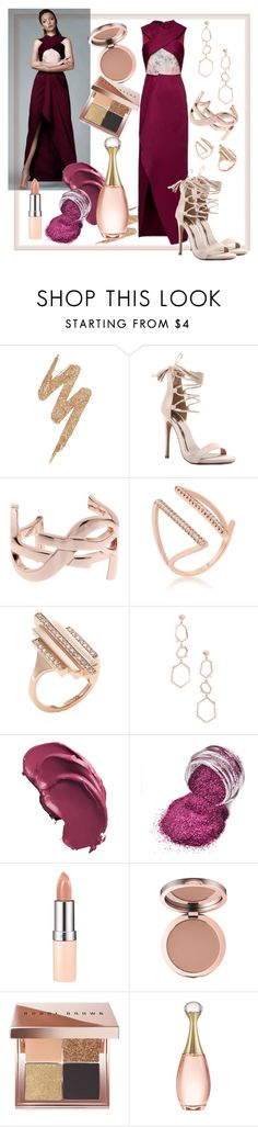 """""""Purple in Gold"""" by lemiche ❤ liked on Polyvore featuring Urban Decay, Qupid, Yves Saint Laurent, Carbon & Hyde, Rimmel, Bobbi Brown Cosmetics and Christian Dior"""