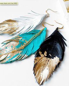 Me encantan estos pendientes de cuero... Y a vosotros???
