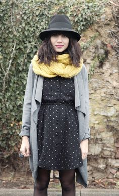 black + gray + pop of yellow