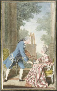 'Monsieur et madame du Perreux-Millin', Louis Carrogis (dit Carmontelle).