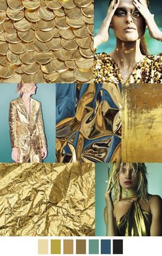 A/W 2017-18 women's patterns & colors trends: GOLDEN STATE