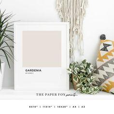 Gardenia Color Art Print Printable Pantone Wall Art Soft   Etsy Color Art, Pink Color, Pantone, Printable Art, Printables, Pastel, Fox Print, Inspiration Wall, Decoration