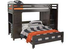 picture of Creekside Charcoal Twin/ Step Bunk with Desk  from Beds Furniture