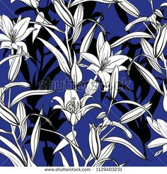 tropical flower pattern - bu vektörü Shutterstock'ta satın alın ve başka görseller bulun. Tropical Flowers, Flower Patterns, Abstract, Artwork, Image, Summary, Doodle Flowers, Work Of Art, Auguste Rodin Artwork
