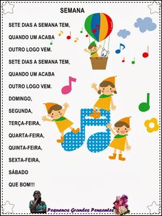 Música Dias da Semana - Educação Infantil Literacy Stations, Literacy Centers, Supernanny, Poetry For Kids, Portuguese Language, Whole Brain Teaching, Montessori Activities, Graphic Organizers, 4 Kids