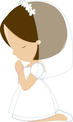 Primera Comunión in holy communion girl clipart collection - ClipartXtras First Communion Cards, Première Communion, Communion Dresses, First Holy Communion, Communion Cakes, Decoration Communion, Easter Religious, Christening, Paper Dolls