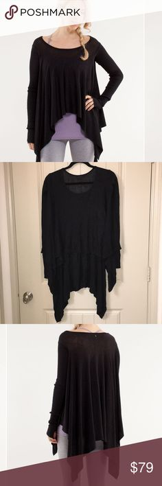 Lululemon Enlightened Pullover Black Knit Sweater This is a Lululemon Enlightened Pullover thin Black Knit Sweater In a sz 2, Gently used condition! I ship fast! lululemon athletica Sweaters