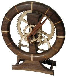 wooden clock | clock assembly clock face grooves cutting gears routing the clock face