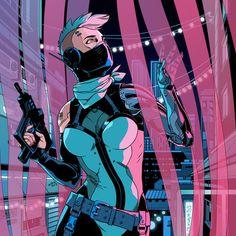 #cyberpunk #art #graphic #future #girl #sexy #cybergirl