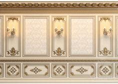 Декорированная стеновая панель в классическом стиле