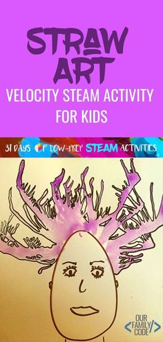 We used our knowledge of velocity to observe & compare the impact of different velocities in a visual demonstration and created velocity straw art! - Education and lifestyle Steam Activities, Art Activities For Kids, Spring Activities, Learning Activities, Senses Activities, Toddler Crafts, Preschool Crafts, Crafts For Kids, Straw Art For Kids