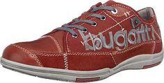 Diese lässigen bugatti Sneakers bestehen aus einem aufwendigen Materialmix aus Textil, Glatt- und Veloursleder. Die weich gepolsterte Decksohle und die profilierte Laufsohle sorgen für ein angenehmes Tragegefühl.  - Verschluss: Schnürung - leicht gepolsterter Fersen- und Zungenrand - mit seitlicher Labelstickerei  Obermaterial: Leder, Textil (Materialmix aus Leder und Textil) Futter: Textil Dec...