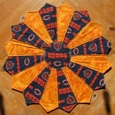 Chicago BEARS Football Tabletopper / Quilted Centerpiece by CraftsJustForYou1 on Etsy