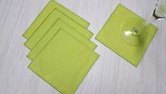 St Patricks Day Cloth Napkins Bright Green Lunchbox Beverage Cocktail Dessert 5 Inch Set of 5