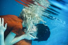 Percabeth UnderwaterKiss - Percy Jackson by CosplaySymphony.deviantart.com on @DeviantArt