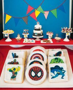biscoitos decorados para festa super heróis
