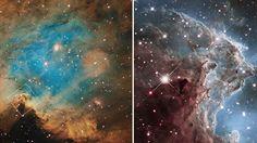 Näin komealta näyttää NGC 2174 emissiosumu Hubble-teleskoopin ottamissa kuvissa. Copyright: NASA, ESA, Hubble Heritage Team. Kuva: NASA, ESA, Hubble Heritage Team.