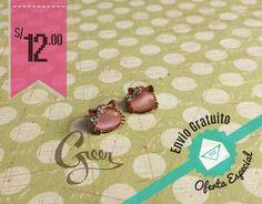 Aretes de Hello Kitty gema rosa