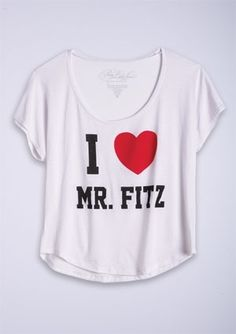 dELiAs > Pretty Little Liars, I Heart Mr. Fitz Tee > clothes > tops > graphic tees - StyleSays