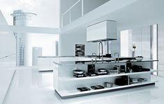 Italian Kitchen Design by Poliform - Matrix Varenna modern kitchens European Kitchens, Fancy Kitchens, Home Kitchens, Modern Kitchens, Fitted Kitchens, Dream Kitchens, Kitchen Furniture, Kitchen Interior, Kitchen Decor