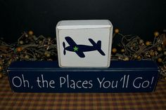 Oh the Places You'll Go primitive wood by PrimitiveHodgePodge