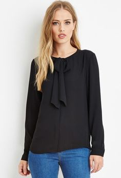 Bow-Front Blouse | Forever 21 - 2000158016