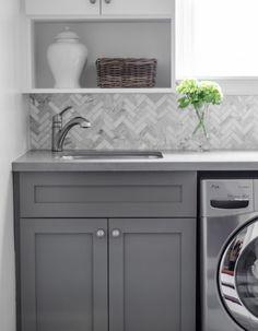 Ideas Bathroom Design Grey Laundry Rooms For 2019 Grey Laundry Rooms, Laundry Room Bathroom, Laundry Room Storage, Laundry Room Design, Bath Room, Bathroom Grey, Mud Rooms, Bathroom Ideas, Basement Bathroom