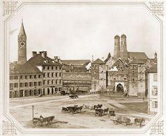 München 1857, Sendlinger Tor. Historische Fotos der Ludwigsvorstadt - Stadtarchiv München