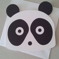 Panda card from thirteen rabbits on etsy