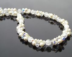 Dunlap is this something we could do for me? Bridal Necklace, Wedding Necklaces, Pearl Necklace, Ivory Pearl, Pearl White, Quartz Stone, Quartz Crystal, Crystal Cluster, Natural Crystals