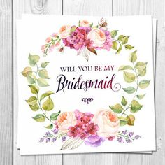 Shop Be My Bridesmaid Card on Wanelo