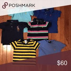 Polo by Ralph Lauren Lot Sz 12m Selling as a lot only. Slight fading but overall good condition. Price is firm. All sz 12m Polo by Ralph Lauren Shirts & Tops Polos