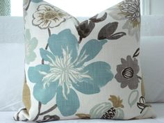Your place to buy and sell all things handmade Grey And Brown Living Room, Brown And Grey, Cushion Covers, Pillow Covers, Cream Room, Modern Floral Design, Grey Throw Pillows, Pillow Cover Design, Scatter Cushions